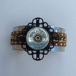 Winchester 12 gauge cuff hand crafted bracelet